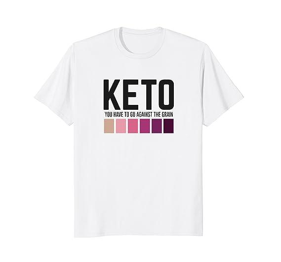 2565d11b66 Mens Funny Keto You Have to Go Against the Grain Keto Strip Shirt 2XL White