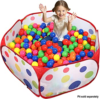 100-Count Click N' Play Plastic Balls in Mesh Bag with Zipper