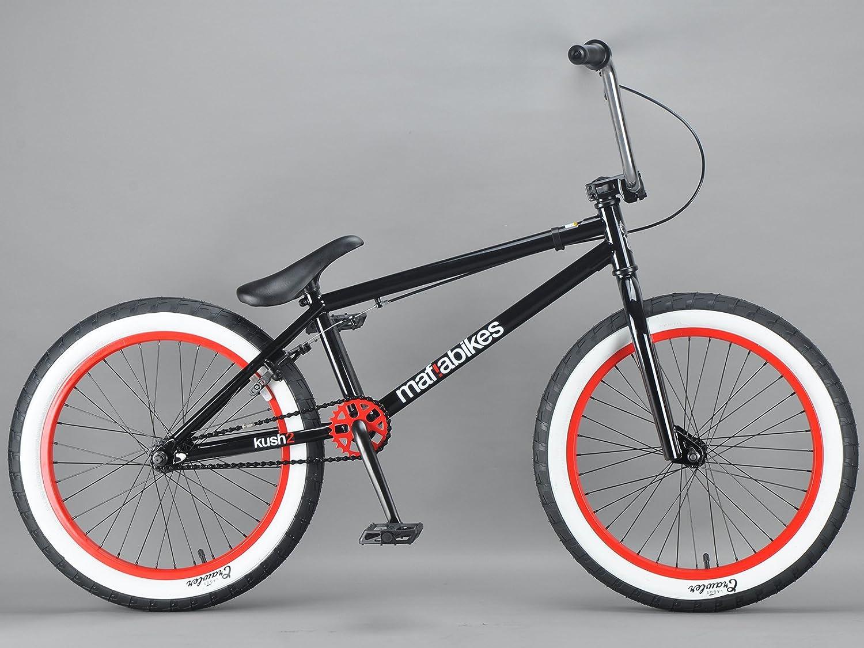 Mafiabikes - Mini Bicicleta BMX de 50.8cm Modelo Kush 2 - Negra - Combinación de Colores de 2015: Amazon.es: Deportes y aire libre