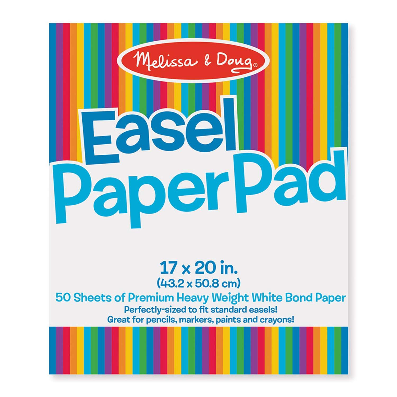 Melissa & Doug LCI4102BN Easel Paper Pad, 17'' x 20'', 50 Sheets/Pad, 3 Pads, White by Melissa & Doug
