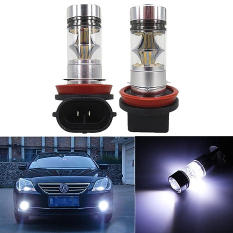 FEZZ LED Bombillas de Coche Auto LED H11/H8 100W Sharp 20SMD Lamparas Iluminación Para