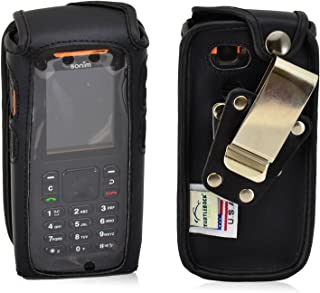 product image for Turtleback Fitted Case Made for Sonim XP3405 Shield Phone Black Leather Rotating Removable Metal Belt Clip Made in USA