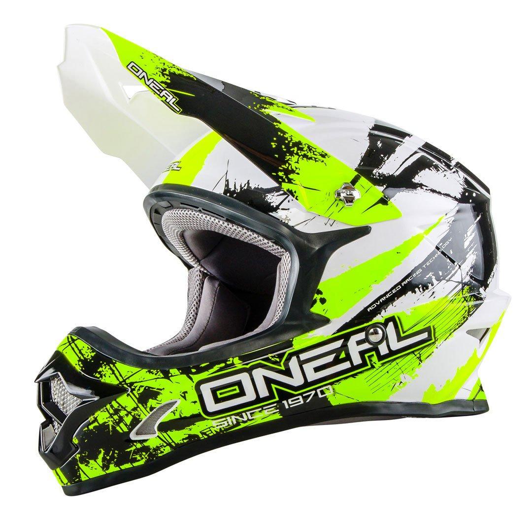 0623S-702 - Oneal 3 Series Shocker Motocross Helmet S Black Neon Yellow 4046068470832