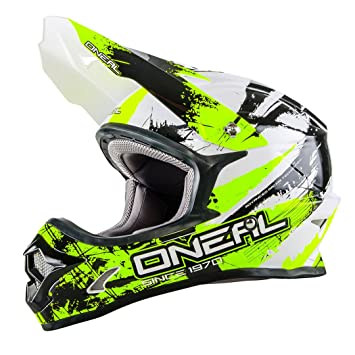 Casco Mx Oneal 2016 3Series Shocker Negro-Neon Amarillo (L , Negro)