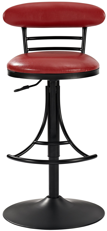 Crosley Furniture CF521026BK-RE Jasper Swivel Counter Stool, 26-inch - Black with Red Cushion