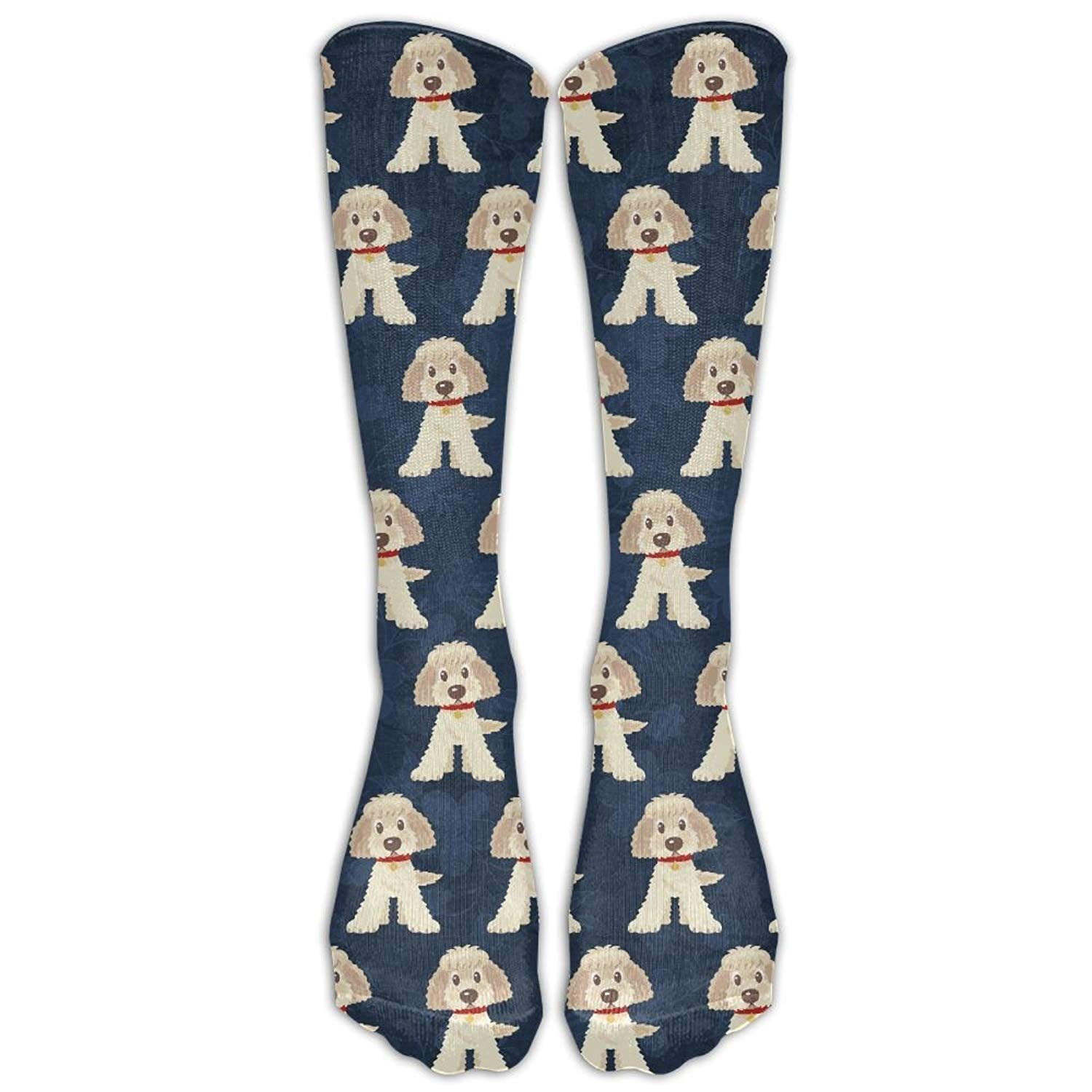 Unisex Goldendoodle Dogs Mid Calf Crew Socks Tube Stockings Boot Socks One Size