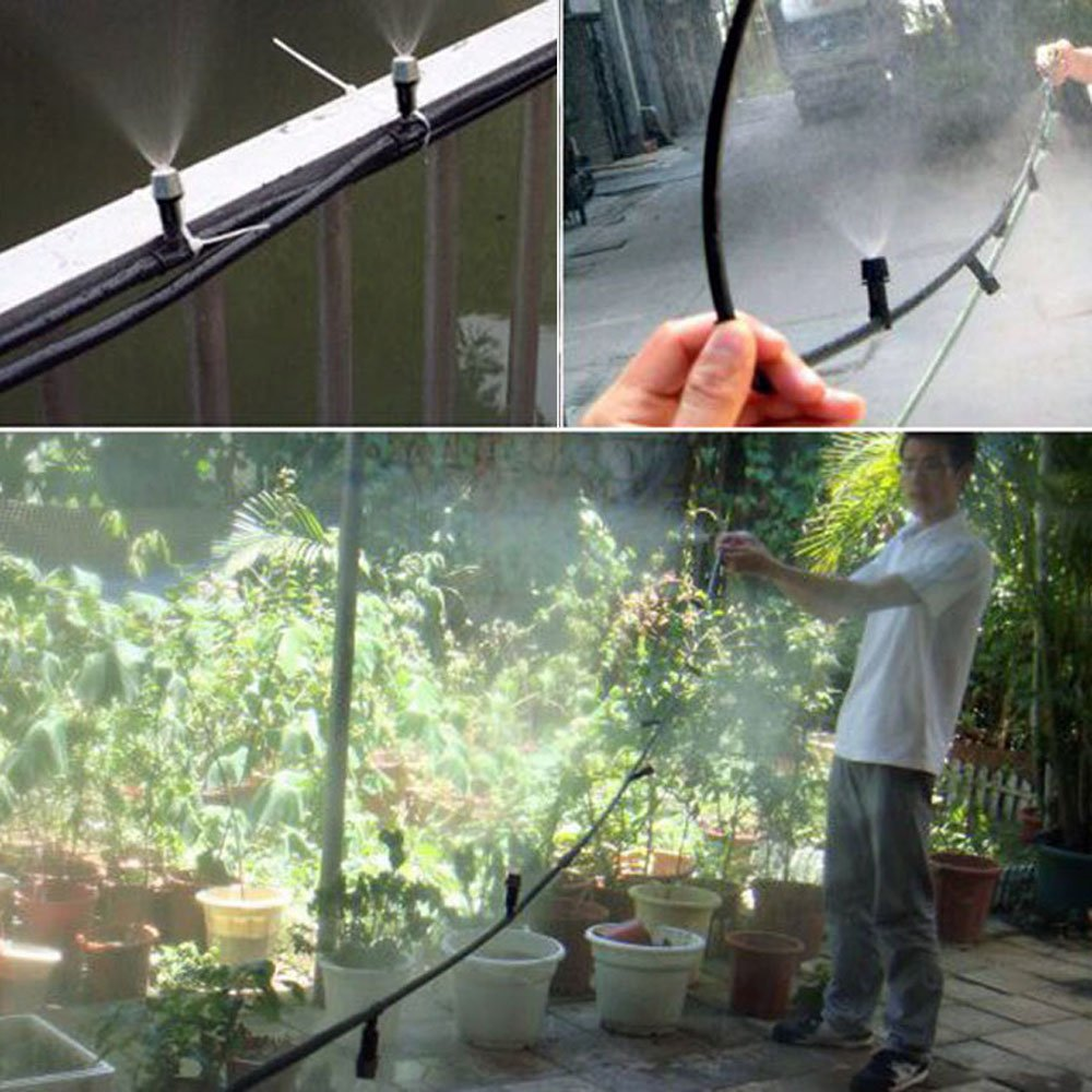 Patio Mist Cooling System Outdoor Garden Misting Kit Pool