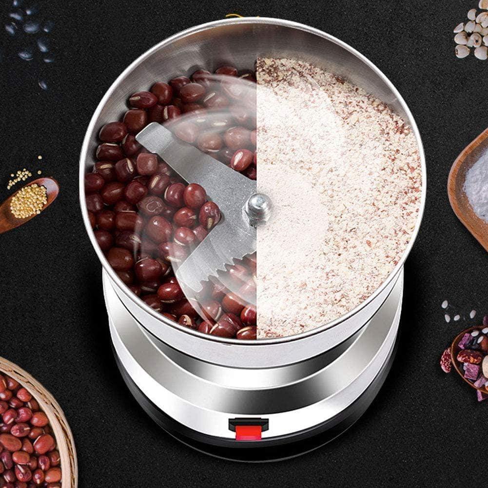 550W Stainless Steel Powder Powdering Machine Household Small Grain Grain Milling Machine Chinese Medicine Grinder Coffee Beans and Powder Machine Eu
