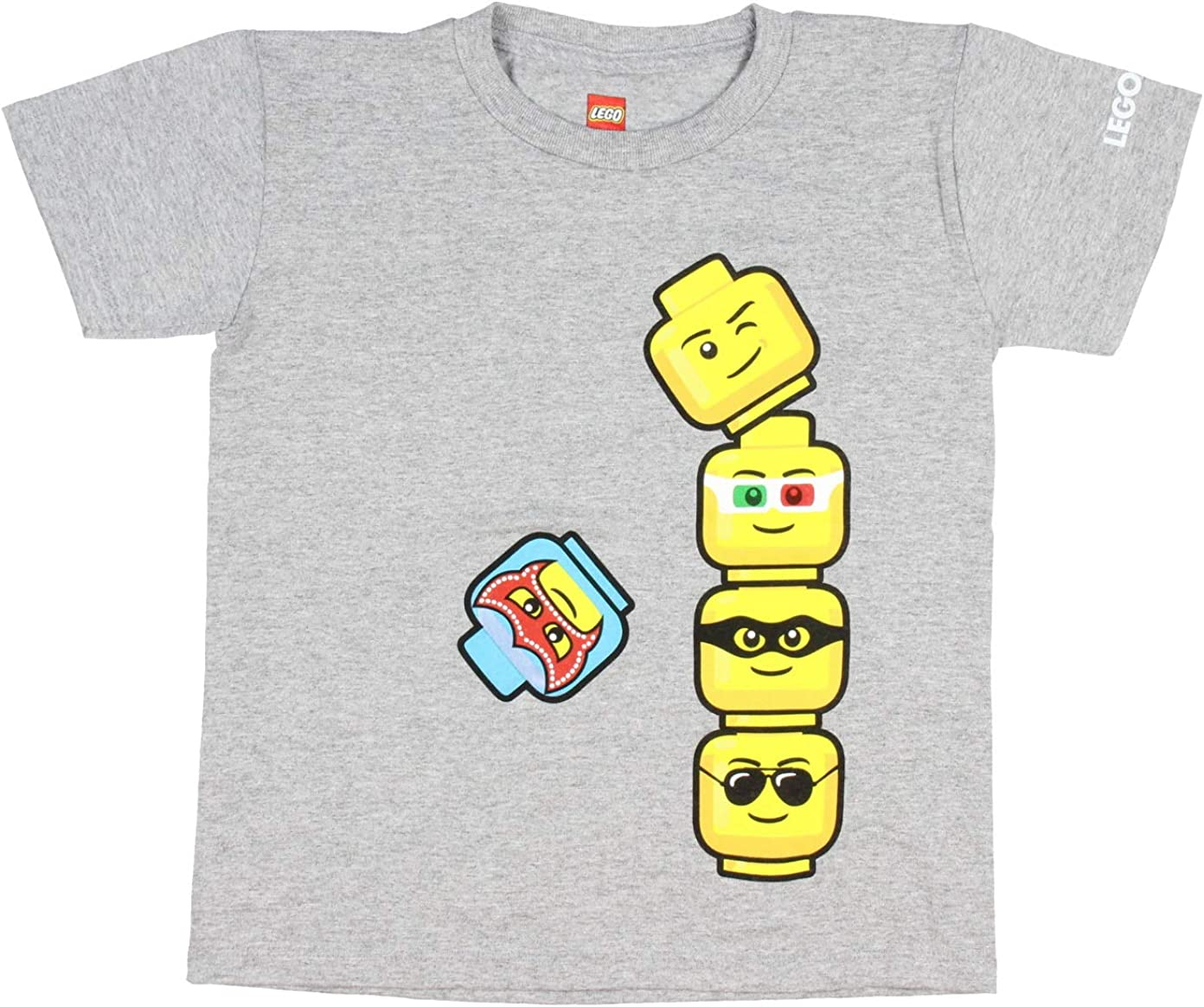 LEGO Boys' Legoland Luchador and More Figure Heads Toppling Tower T-Shirt