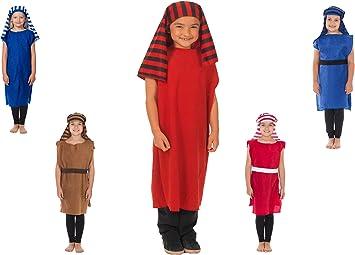 Black /& Red Charlie Crow David Christmas Shepherd Nativity costume for kids 3-8 Years
