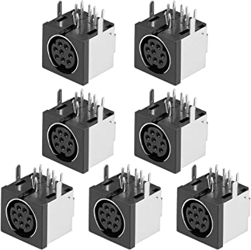 sourcing map 7pcs Conector de S-vídeo de 8 Pines para Montaje en ...