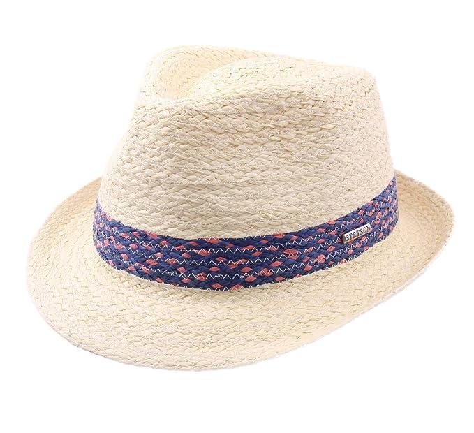 Stetson - Trilby Hat Men Trilby Raffia  Amazon.co.uk  Clothing b7cf32d1fa9