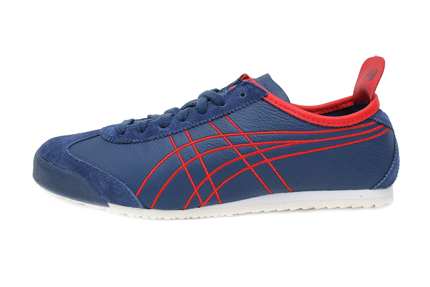 the latest 0597b 38d25 Onitsuka Tiger Mexico 66 Mens in Midnight Blue/Classic Red