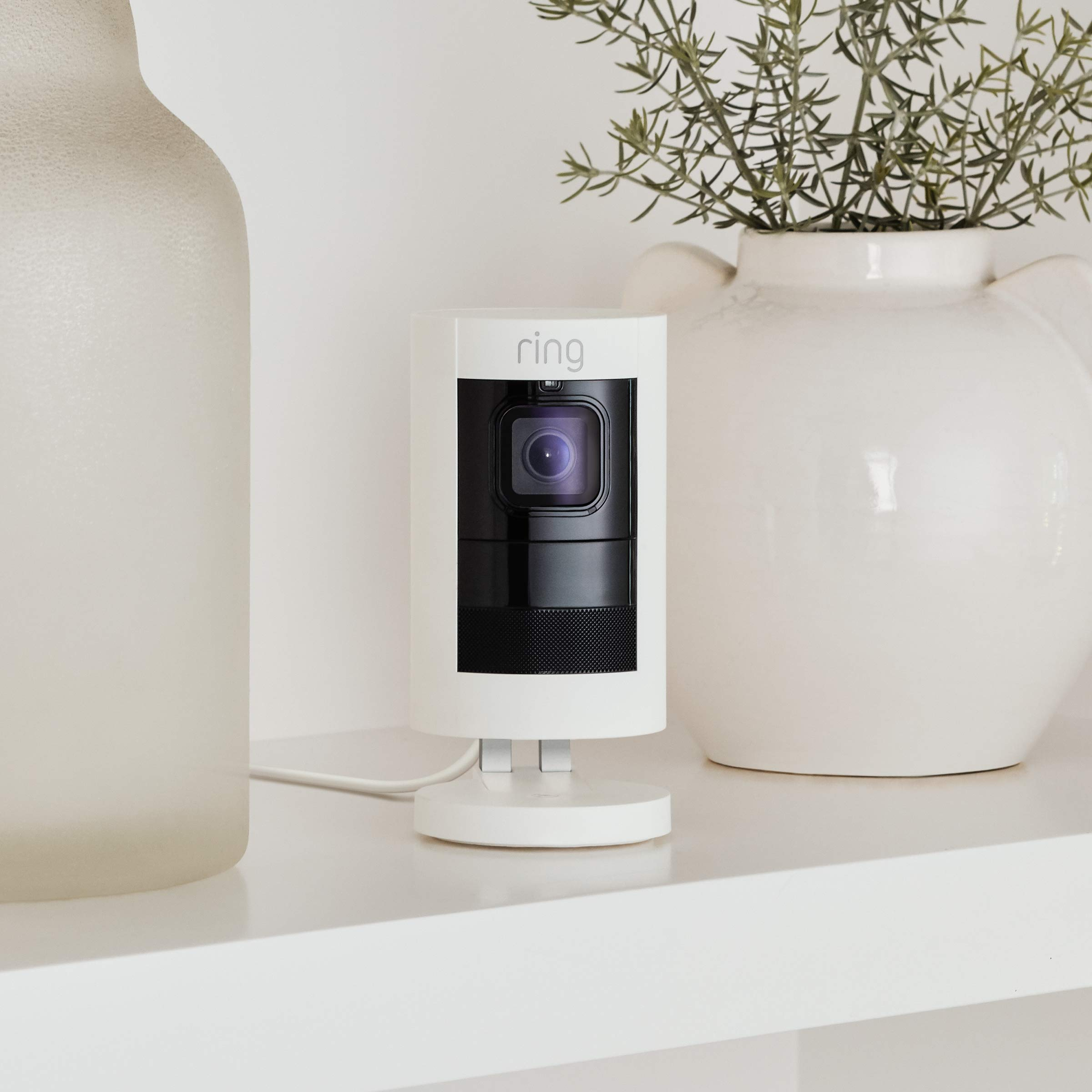 Ring Stick Up Cam Wired HD Security Camera with Two-Way Talk, Night Vision, White, Works with Alexa by Ring (Image #4)