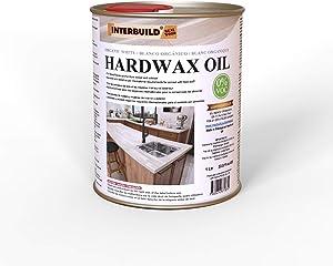 INTERBUILD HARDWAX Oil - Zero VOC & Food Safe Wood Sealer & Stain - 33.82 oz. can (Organic White)