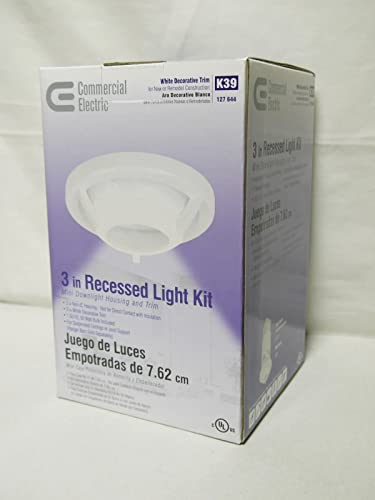 3 in recessed white non ic remodel gu10 lighting kit commercial
