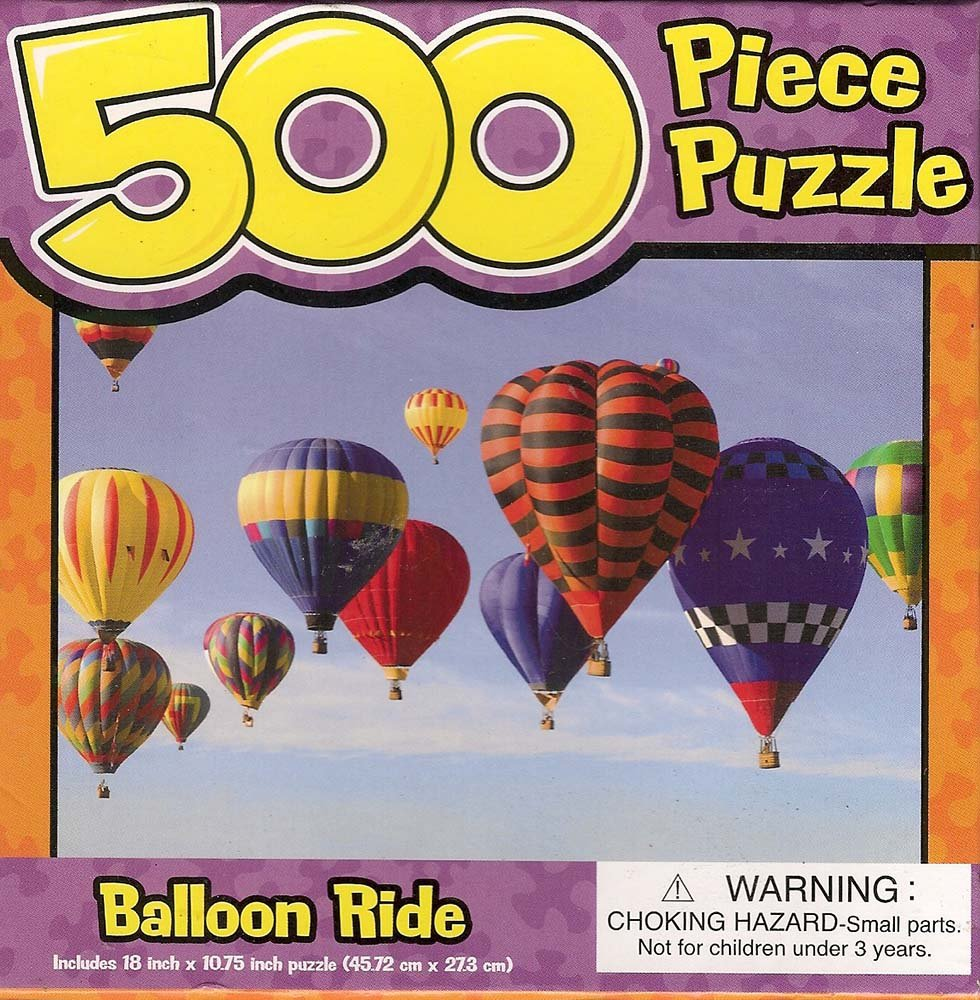 Balloon Ride 18 x 10-3//4 18 x 10-3//4 Unknown Dolgencorp #4N7HK09 500 Piece Puzzle