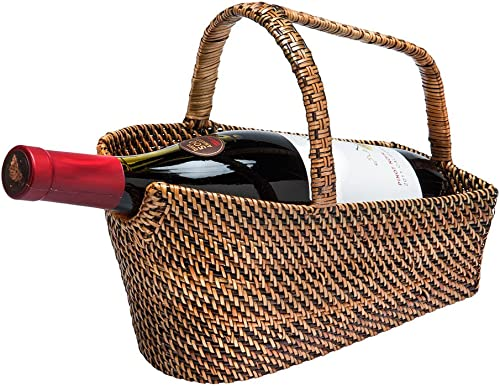 KOUBOO Carmel Wine Bottle Basket