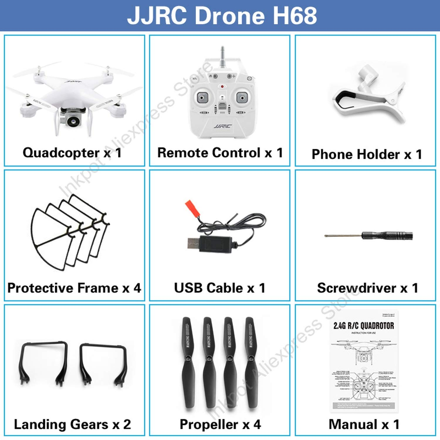 Amazon com: JJR/C H68 Drone with Camera HD 720P Altitude