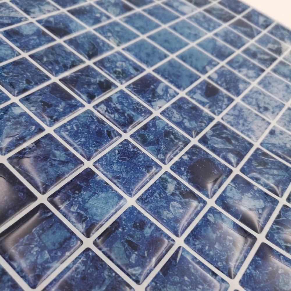 Amazon.com: Cocotik Peel and Stick Tile Blue 3D Kitchen Backsplash ...