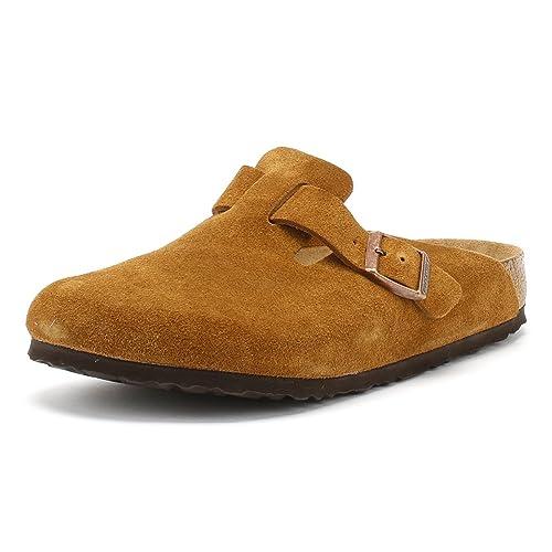 70392947501628 Birkenstock Mink Brown Boston Suede Clogs  Amazon.co.uk  Shoes   Bags