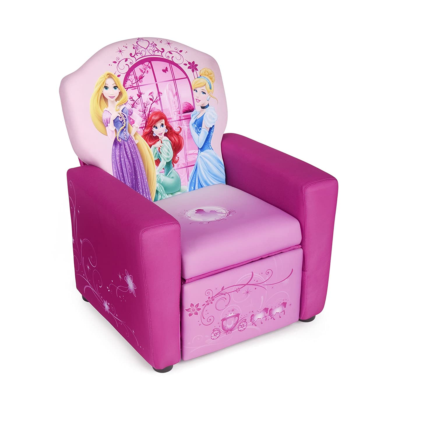 Disney Princess Upholstered Recliner Chair Amazon Baby