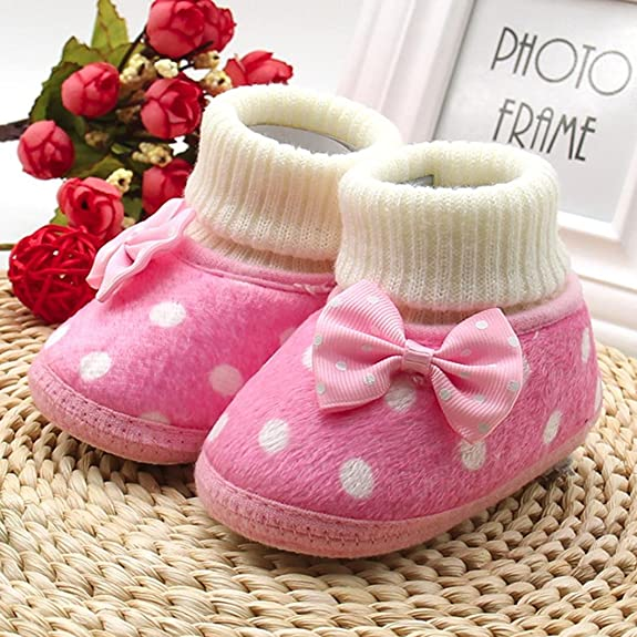 e3616dca71ae Oksale Newborn Baby Girl Cute Soft Warm Shoes Cribe Shoes Bowknot ...