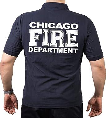 FEUER1 Camisa Polo, Chicago Frie Dept. Policía Blanca Completa: Amazon.es: Ropa y accesorios