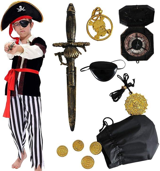 PIRATE COINS /& JEWELLERY BUCCANEER GOONIES fancy dress costume accessory