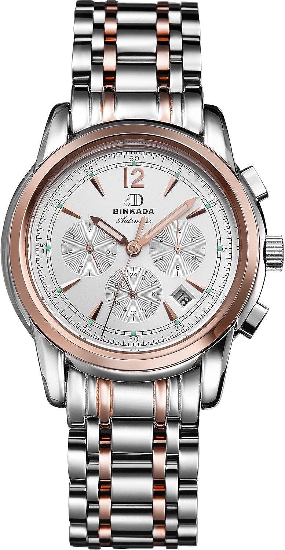 BINKADA 6ポインタ自動巻上げホワイトダイヤルメンズ腕時計# 706203 – 3 B01DZKZSKI