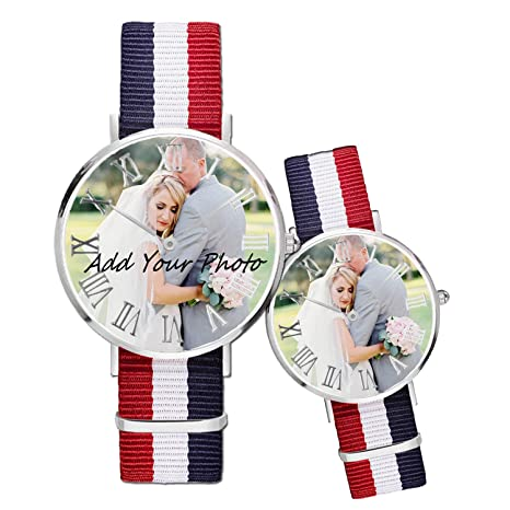 CVSSC Reloj de Pulsera Personalizado para Mujeres y Hombres, Resistente al Agua, Reloj de