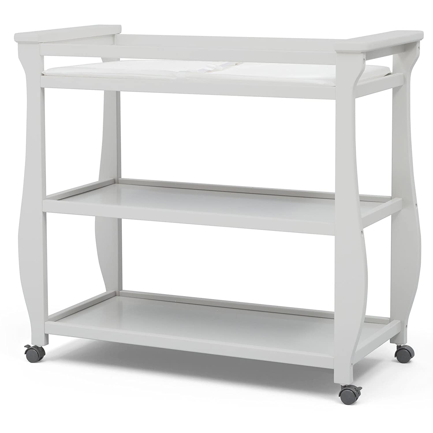 Delta Children Lancaster Changing Table, Grey Delta Baby Dropship 552010-026
