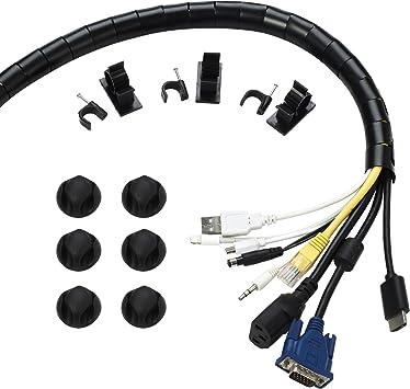 Organizador de cables cable sistema de gestión para ordenador con ...