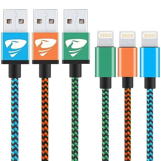 49 opinioni per Cavo Lightning su USB [3 Pezzi 1M] Rephoenix Cavo iPhone di nylon Intrecciato