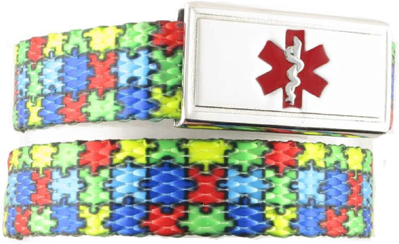 Medical Alert Bracelet Adjustable up to 6.5 Wrist Free Engraving Medical ID Bracelet