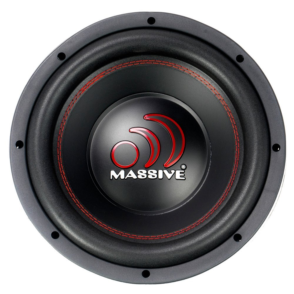10 Inch Sold Individually. 600 Watt 8mm Top Plate Massive Audio TKO104 TKO Series Dual 4 Ohm Car Subwoofer