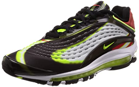 reputable site 5b619 cb4c8 Image Unavailable. Image not available for. Colour  NIKE Air Max Deluxe -  Black Volt-Habanero Red White ...