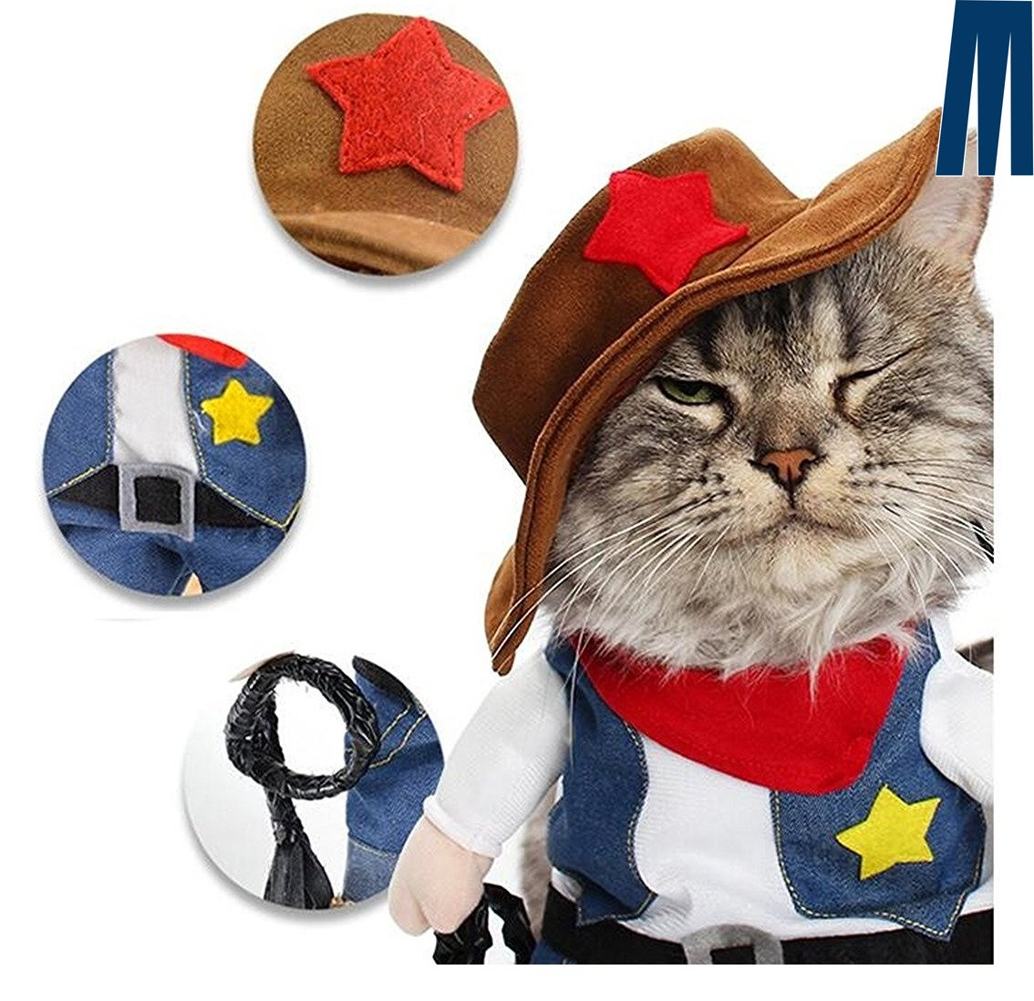 mikayoo pet dog cat halloween costumes the cowboy for party christmas special 713524099862 ebay. Black Bedroom Furniture Sets. Home Design Ideas