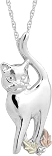 product image for Black Hills Gold on Silver Cat Pendant