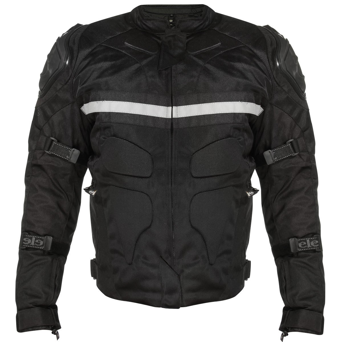 Xelement CF751 Mens Black Tri-Tex Motorcycle Jacket with Level-3 Armor - Medium by Xelement