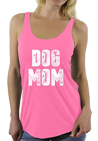 6882cfb388a1e2 Awkward Styles Women s Dog Mom Racerback Tank Tops Dog Lover Quote Mom of  Dogs Gift for