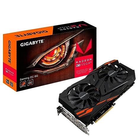 Gigabyte Radeon RX Vega 64 - Tarjeta gráfica de 8 GB, Color Negro
