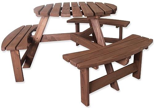 Rowlinson Round Picnic Table Amazon Co Uk Garden Amp Outdoors