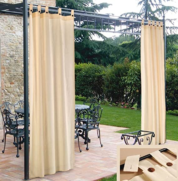 cortina para cenador CM.150 X 280 de Resina Repelente AL Agua 2 ...