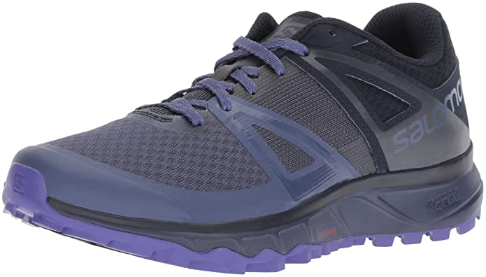 Salomon TRAILSTER W, Calzado de Trail Running para Mujer, Azul (Crown Blue/Navy Blazer/Purple Opule), 42 EU