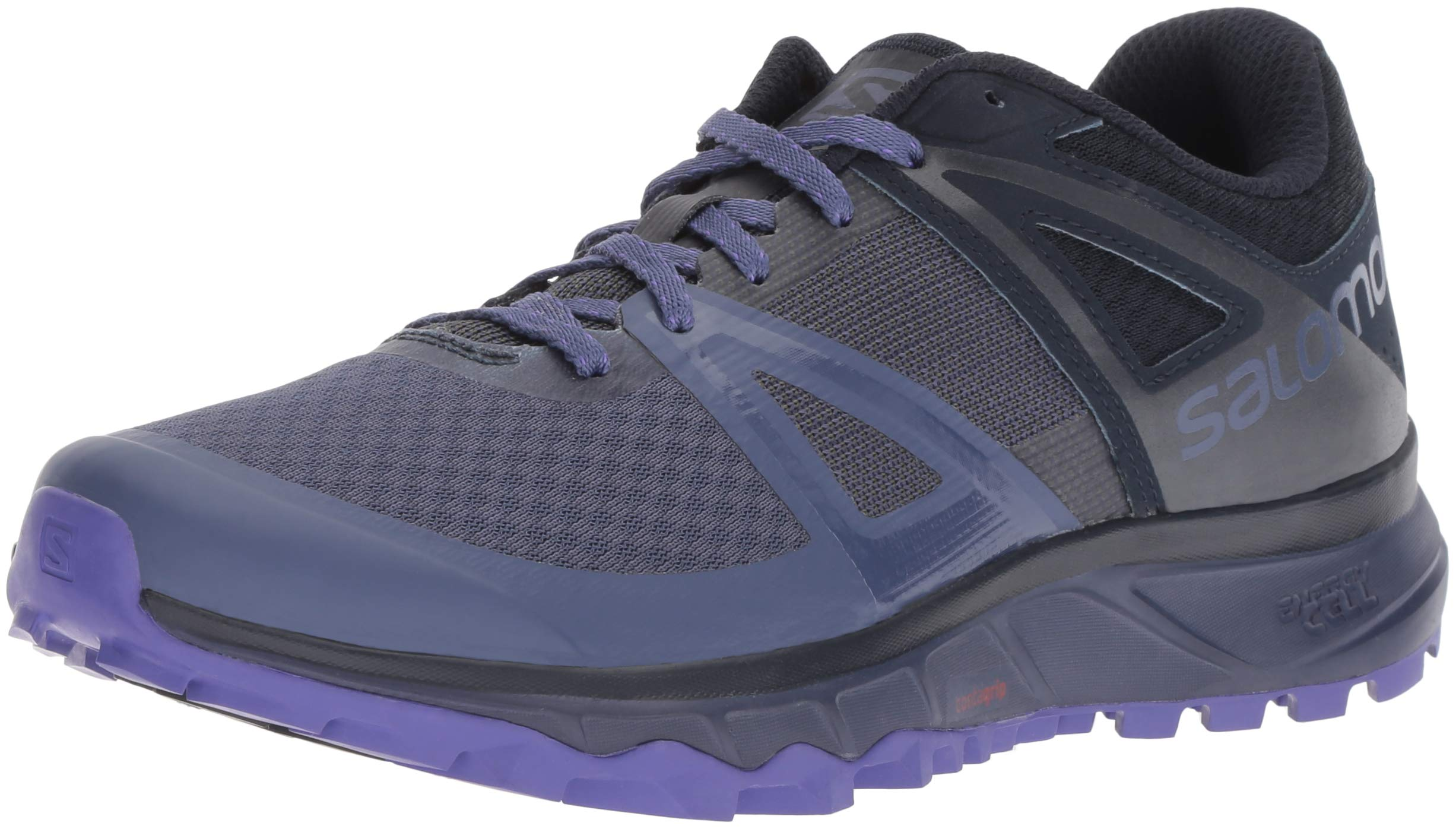 Salomon Women's Trailster W Trail Running Shoe, Crown Blue/Navy Blazer/Purple Opulence, 12 B US