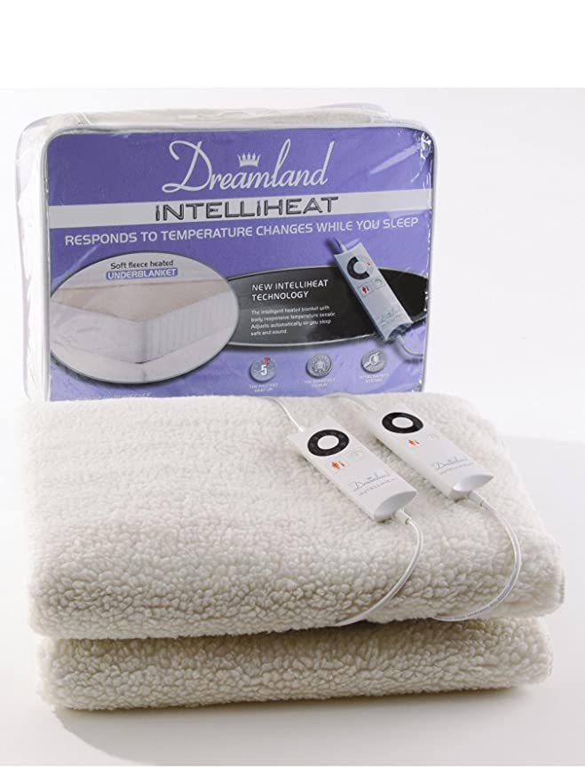 Dreamland Intelliheat aborregado manta [tamaño cama - doble (Control Dual)]: Amazon.es: Hogar