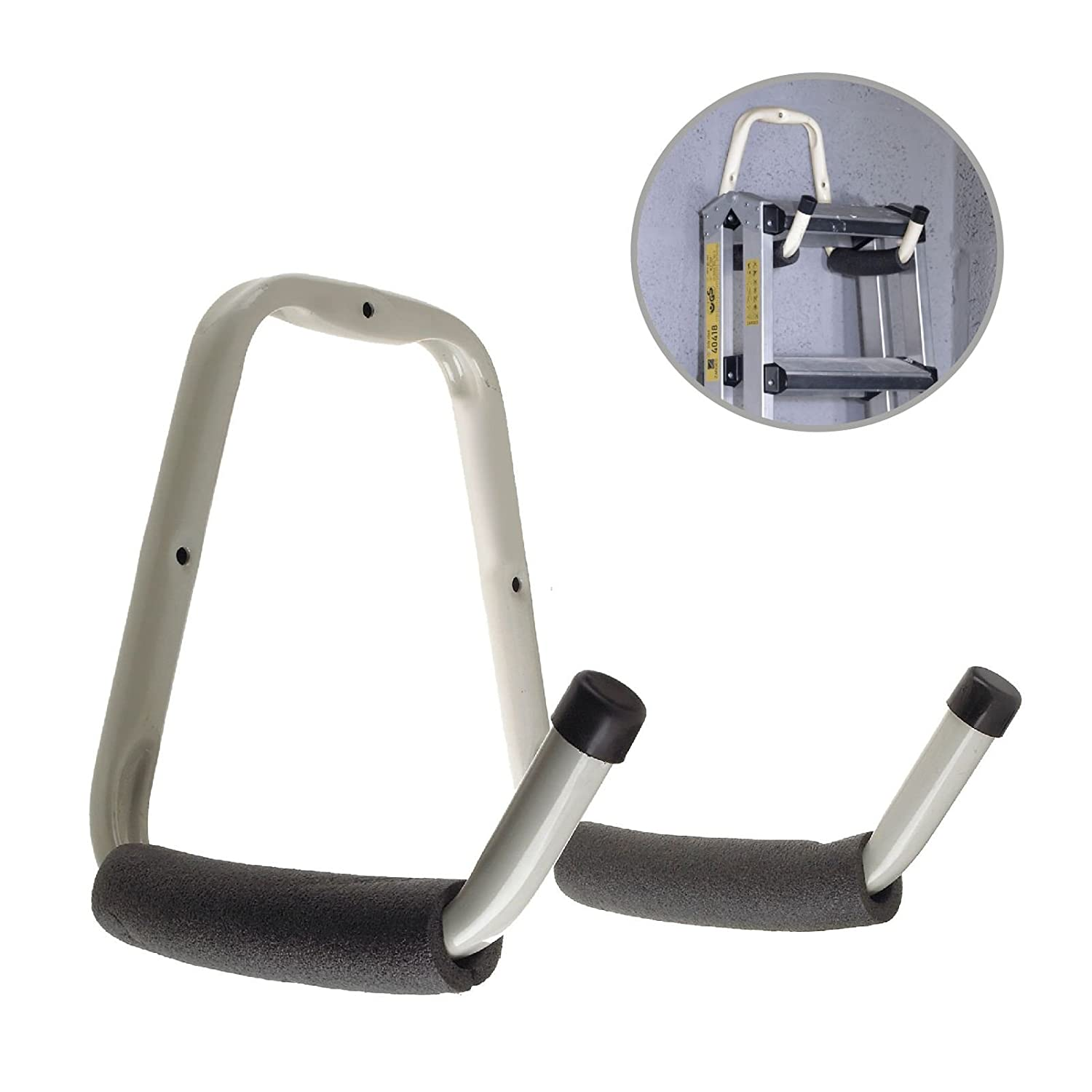 Heavy Duty Double Padded Storage Hook for Bikes, Garages, Sheds, Ladders & Tools Home.smart