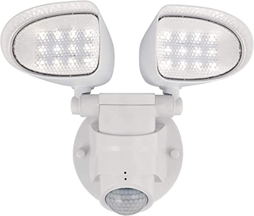 Westinghouse Lighting 6364200 Two 18 Watt Motion Sensor, White Finish with Acrylic Lens LED Outdoor Security Wall Light