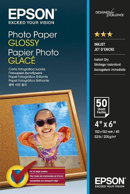 Epson Photo Paper Glossy - Papel fotográfico: Amazon.es: Oficina y ...